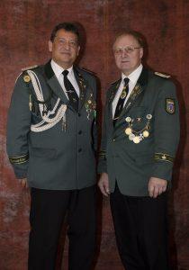 Stellv. Bataillonskommandeur Ulrich Böke Stellv. Vorsitzender Eckhard Palm
