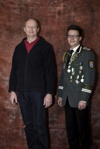 Zahlmeister Carsten Plöger mit Stellvertreter Jan-Niklas Witt